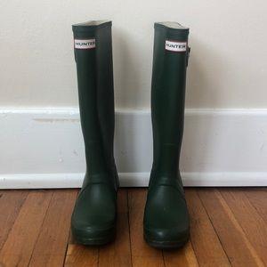 Hunter Original Tall Green Rain Boot